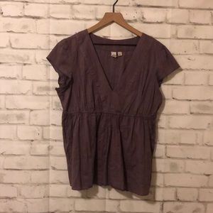 Caslon purple babydoll top